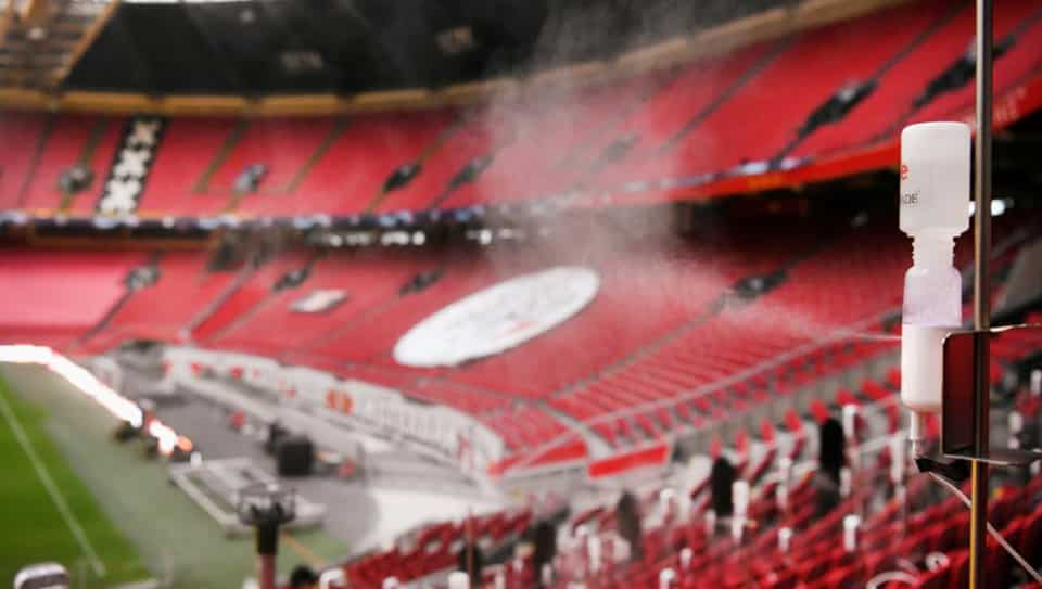 The tests are taking place at the Johan Cruyff Arena in Amsterdam, home of Ajax Amsterdam.