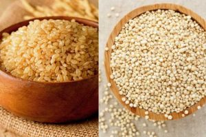 Who will win in this ultimate face-off of weight loss foods—quinoa and brown rice?