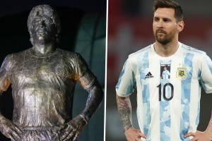Argentina rinde homenaje a Maradona con una estatua antes de las eliminatorias mundialistas vs Chile