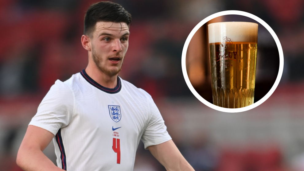 La estrella de Inglaterra Rice promete beber la primera cerveza si tres Leones ganan la Eurocopa 2020