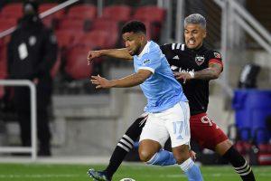 Tajouri-Shradi anota mientras el New York City FC se inclina ante el New England Revolution sin Kizza