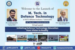 DRDO y AICTE lanzan el programa M.Tech en tecnología de defensa