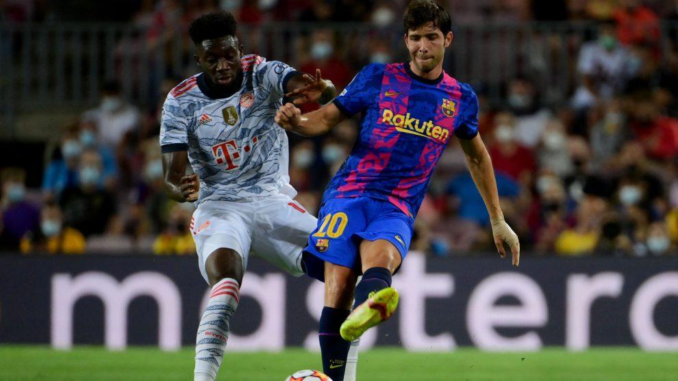 Ahogamiento 'herido' por el trato de la afición azulgrana a Sergi Roberto en la derrota de Champions ante el Bayern de Múnich