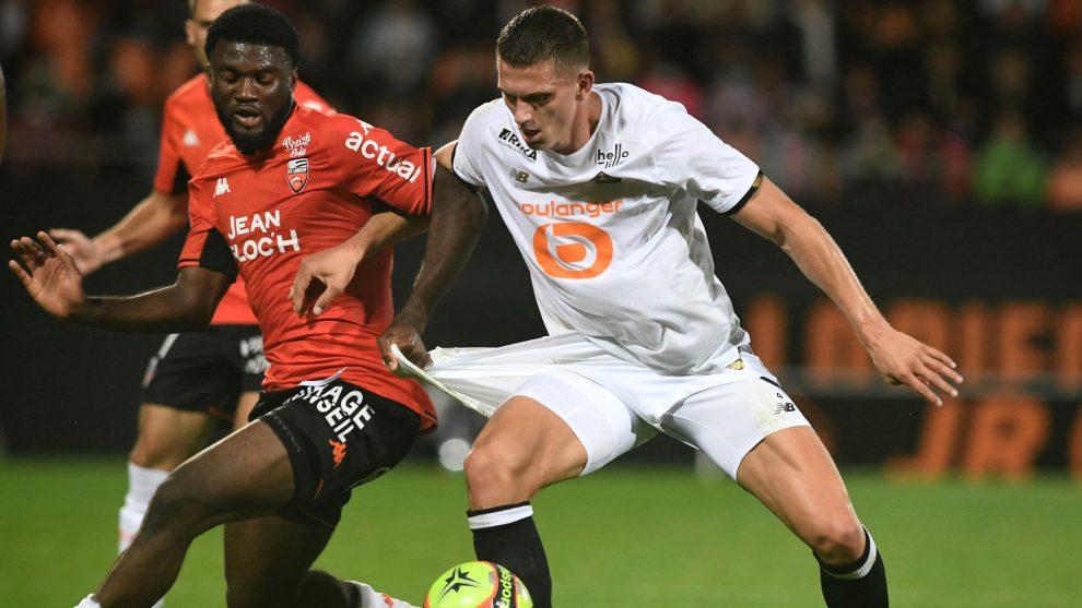 Moffi, ganador del partido: estaba cansado pero Lorient me necesitaba contra el Lille