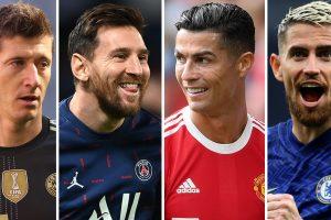 Nominados al Balón de Oro 2021: Messi, Ronaldo, Lewandowski y Jorginho, todos en la lista para el premio